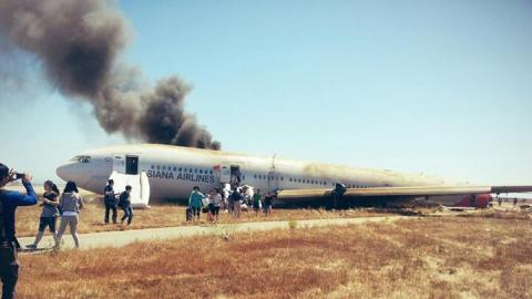 July 6 2013 Asiana Airlines 777 Jetliner Crash at San Francisco
