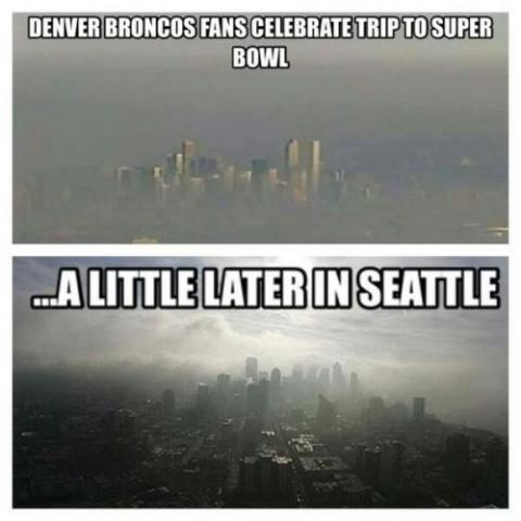Denver and Seattle Celebrate 2014 Playoff Wins