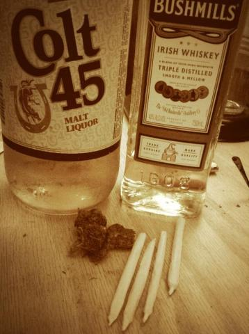 Colt 45 And Two Zig Zags Baby Thats All We Need